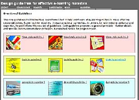 screenshot of Design Guidelines for Effective E-Learning Materials website