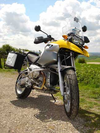 my R 1200 GS from the front
