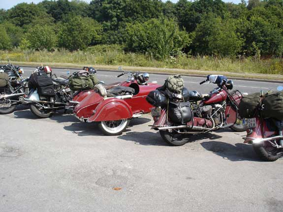 Collection of Indian motorcyles