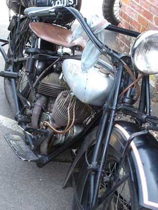 silver Indian motorcycle