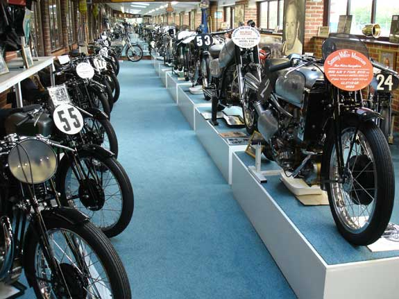 View of the Sammy Miller motorcycle collection