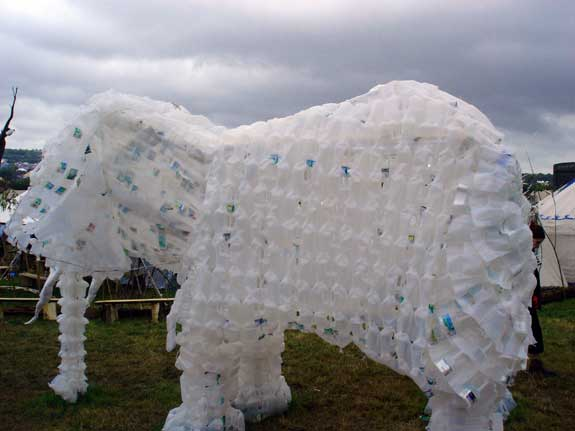 Milk bottle elephant in the Green Futures field
