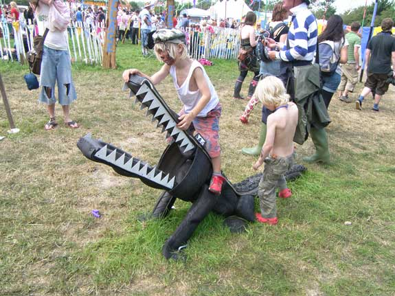 Glastonbury tyre crocodile