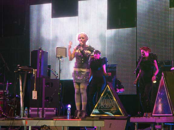 Little Boots on John Peel Stage at Glastonbury