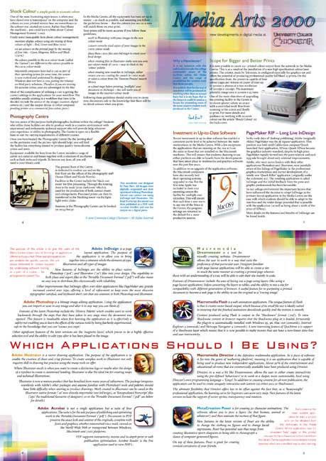 Media Arts 2000 newsletter