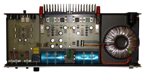 photograph of the inside of a Myst tma3 amplifier