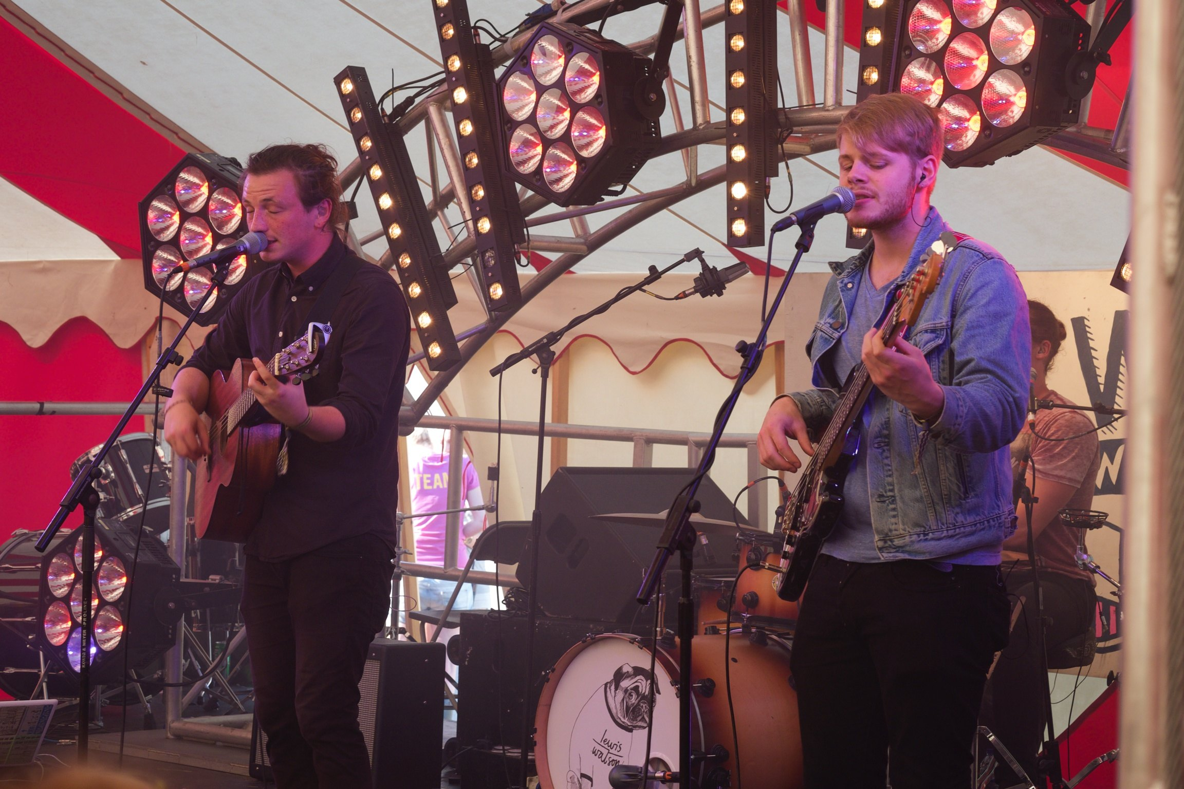 Lewis Watson in Jack Wills tent at Somersault Festival 40