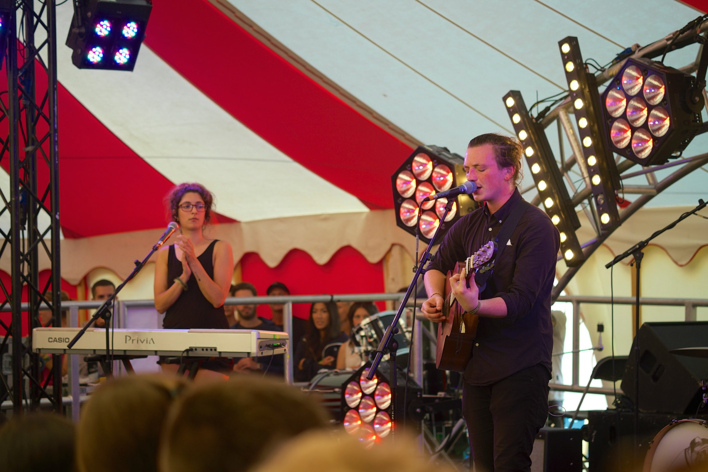 Lewis Watson in Jack Wills tent at Somersault Festival 5