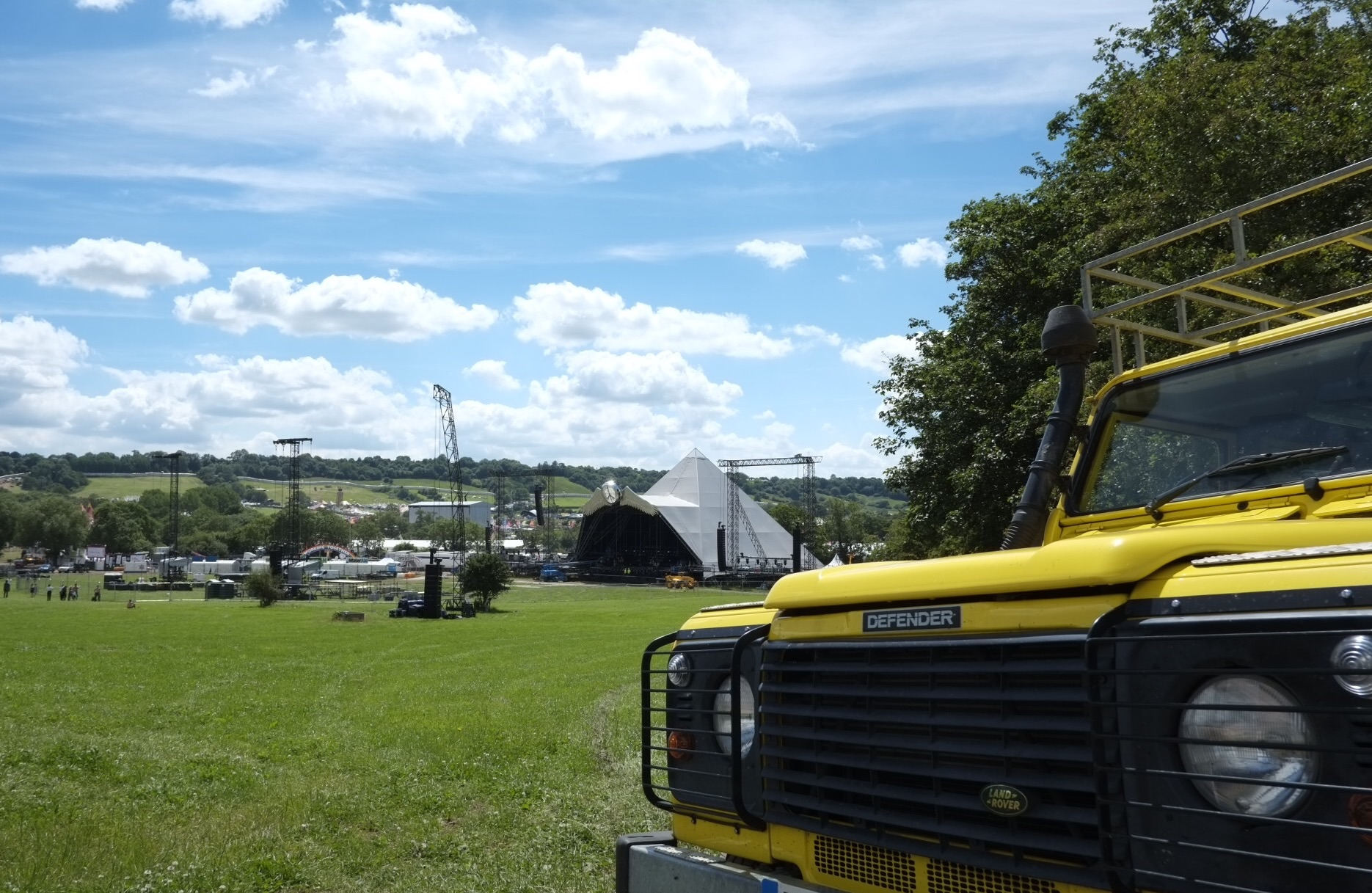 Landy and pyramid stage